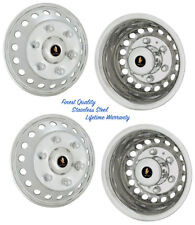 "16"" SPRINTER WHEEL SIMULATOR HUBCAP COVERS SET OF 4 STAINLESS STEEL RIM LINERS ©"