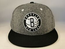 Brooklyn Nets NBA Adidas Snapback Hat Cap Gray Black