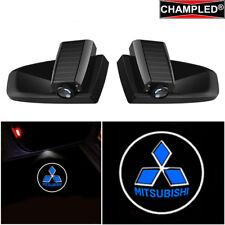 CHAMPLED MITSUBISHI BLUE Car LED Door Projector Shadow lights emblem WIRELESS