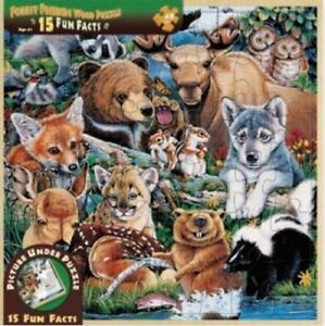 Forest Friends Wood Fun Facts Puzzle 48pc In Stock