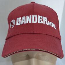Gander MTN Mountain Hat We Live Outdoors Red Goose Baseball Ball Cap Lid Hunter