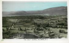 Hand-Colored RPPC Postcard; Golf Course, Kelowna BC Canada Unposted