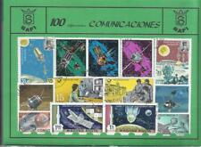 Conjunto de 100 Sellos usados diferentes del tema: COMUNICACIONES.