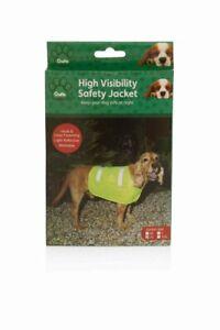 Crufts High Visibility Hi Vis Dog Safety Jacket / Vest - 4 Assorted Sizes