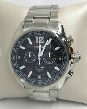 CITIZEN SHADOWHAWK ECO-DRIVE CHRONOGRAPH BLACK DIAL WATCH CA4170-51E