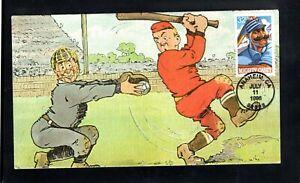 1996 #3083 32c Mighty Casey at the Bat, Baseball; Cartoon First Day Cancel