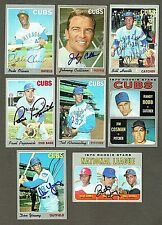 Lot of (8) 1970 Topps Chicago Cubs Signed Baseball Cards (Inv.#138)