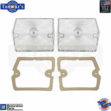 1965 Chevy II Tail Light Lamp Back Up Lens w/Gaskets PAIR Trim Parts
