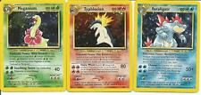 Pokemon TCG Feraligatr Typhlosion Meganium Neo Set NM/M - SAME DAY SHIPPING