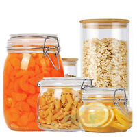 Airtight Food Storage Glass Mason Jars Canister Set with Lids ,750/950/1500ML