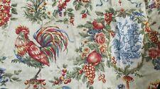 Waverly Saison de Printemps Cream Rooster Décor Panels drapes Tiers 60X45 Toile