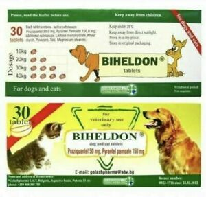 -Exp.02/2024 Dog and Cat Wormer, Broad Spectrum Dewormer, Worming Tabs