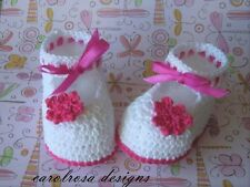 Crochet PATTERN Baby/Child Booties Shoes Christening Princess No 20