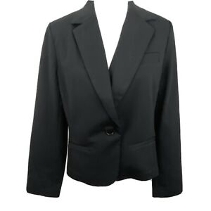 Tasta Black Gold  Women's Size 12 Black 1 Button Blazer Polyester Blend NEW