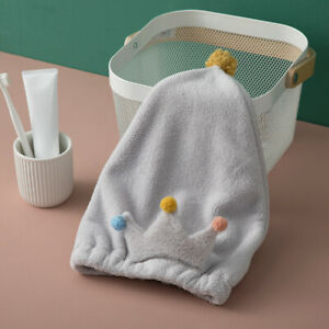 Coral Fleece Towel Hair Hat Crown Lovely Hair-drying Bath Cap Towel Quickly Dry