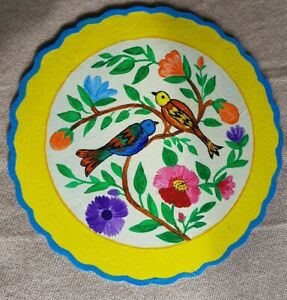 Authentic Indian Hand Painted Art Wall Hanging Plate