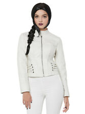 NWT! FAUX LEATHER CORSET JACKET - DC COMICS ARROW WHITE COSPLAY - 2XL SOLD OUT!