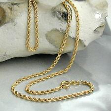 Markenlose Echte Edelmetall-halsketten ohne Steine aus Gelbgold mit Besondere Anlässe