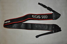 CANON 50D BLACK/RED/WHITE GENUINE SHOULDER NECK STRAP FOR 50D CAMERA USED