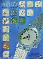 Publicité Advertising 1996 Les Montres Akteo