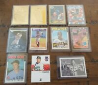 Lot of 50 baseball Cards Rookies Inserts Autos HOF Figures Coins and more