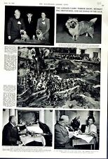 Original Old Vintage Print 1952 London Cairn Terrier Show Dogs Ramshaw Eagle