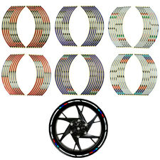 "Motorcycle Wheel Sticker Moto Rim Reflective Decal Tape Vinyl 17"" 18"" Strip  CMA"