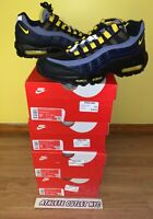 New Nike Air Max 95 Dark Blue Black Yellow Men's Size 9-10.5 Sneakers CT1805-400