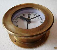 SHIP'S BRASS  Clock – Marine WALL Clock – MARITIME / BOAT / NAUTICAL (5010C)