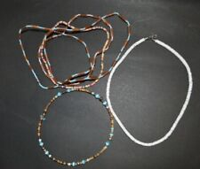 White Shell Necklaces Chokers Lot Of Six Bead And