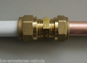 Kupfer- Verbundrohr- Kupplung mit Klemmverschraubung