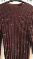 A Next Size 20 Marroon Long Sleeve Top