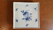 Porzellan-Meissen ,Untersetzer blaue Blume um 1870