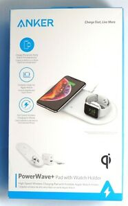 Anker PowerWave+ Qi Wireless Charging Pad for iPhone 12/11/XR/XS/8 & Apple Watch