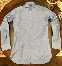 Ralph Lauren Purple Label KEATON Custom Shirt Sz 15 1/2 Frech Cuff Made in Italy