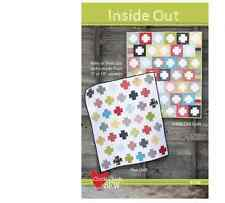 MODA Inside Out SUMMERFEST Quilt Kit APRIL ROSENTHAL Charm + binding + bckgr