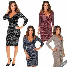 Polka Dot Wrap Dresses