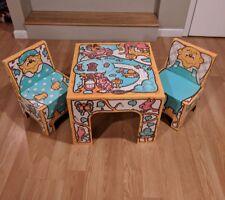 Vintage Rare Lederle The Berenstain Bears Cardboard Table & Chairs