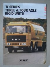 "ERF  ""B"" series three & four axle rigid units  truck  brochure / Prospekt  1981."