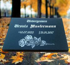 Grabstein Grabplatte Grabmal 50x40x3cm mit der Stütze Granit