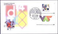 BRD 1997: Documenta! FDC des Blockmarken-Zusammendrucks der Nr. 1927+1929! 1902