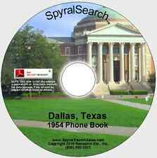 TX - Dallas 1954 Phone Book CD - Text Searchable!