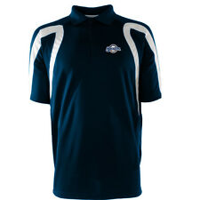 MILWAUKEE BREWERS MEN'S LARGE ANTIGUA NAVY WHITE TEAM COLORS POINT POLO SHIRT!