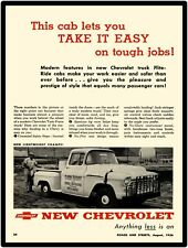 1956 Chevrolet New Metal Sign: Flite Ride Cab Pickup Truck Featured Step Side