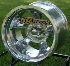 "JD Wheels 15x10 Halibrand Replica 5x4.5 (4"" bs) Ford Mopar Hot Rod Gasser Rim"