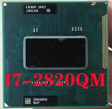 Intel Core I7-2820QM SR012 CPU I7 2820QM processor FCPGA988 2.3GHz-3.4GHz L3=8M