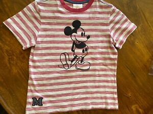 hanna Anderson boys Micky Mouse T-Shirt red/tan stripes 120