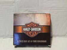 2012 Harley Davidson Day-At-A-Time Calendar - *NEW* - Free Ship. - Ltd.