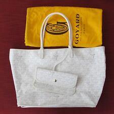 $ALE!  LTD ED GOYARD SAC ST. LOUIS TOTE BAG WHITE W/PIPING NBR 012/020 MINT!