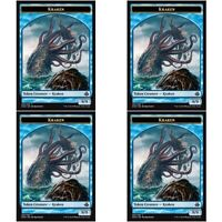 4 x KRAKEN TOKEN NM mtg Elspeth vs Kiora Blue - Creature Token